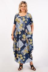 Платье Вероника-2 (джинс/желтый)