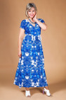 Сарафан Афина (бело-голубой)