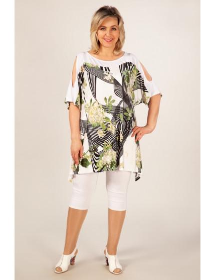 Туника Муза (цветы на белом)