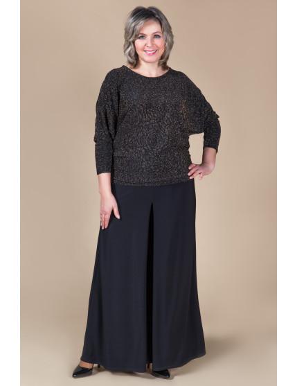 Юбка брюки (черный) Лето