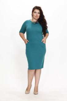 Платье Мессина (зелено-морской)
