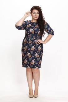 Платье Шелена (принт на сапфире)